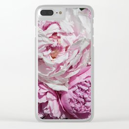 Peony in the sun Clear iPhone Case