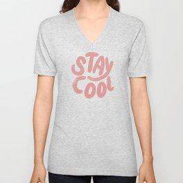 Stay Cool Vintage Pink Unisex V-Neck