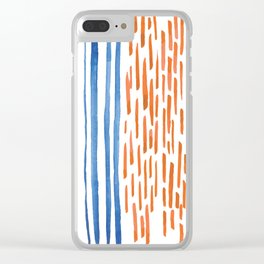 Lines and Dashes Clear iPhone Case
