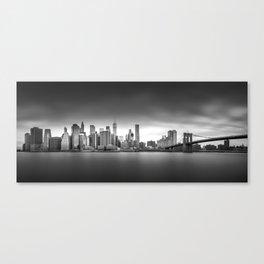 Monochrome panorama of Manhattan Canvas Print