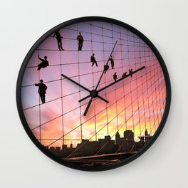 Brooklyn Bridge Painters Quitting Time Wall Clock