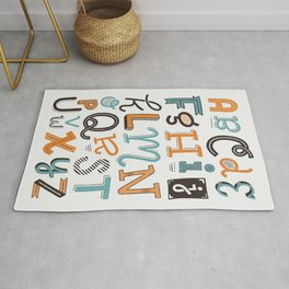 Alphabet Poster | Compilation of letters in basic Latin alphabet (English) Rug