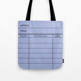 LiBRARY BOOK CARD (twilight) Tote Bag