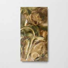 Golden Blossoms II Metal Print