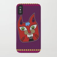 diablo iPhone & iPod Cases featuring Gato Diablo by Scribblebro