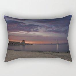 Front Beach After sunset Rectangular Pillow