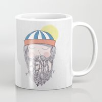 beard Mugs featuring BEARD by Nazario Graziano