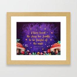 I have loved the stars Framed Art Print