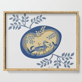 Easter Wood ducks Serving Tray