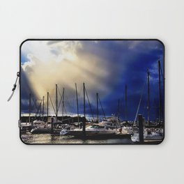 Sky Opening to Sailboats Laptop Sleeve