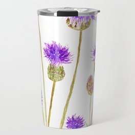 purple thorny wildflower Travel Mug