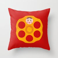 russian Throw Pillows featuring Russian Roulette by John Tibbott