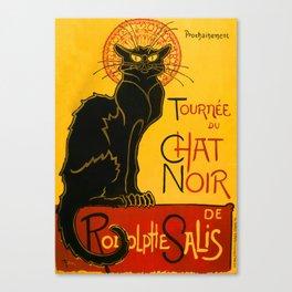 Le Chat Noir The Black Cat Art Nouveau Canvas Print