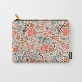 Mongolian Expanse Pattern Carry-All Pouch