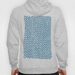 Hand Knit Niagra Blue Hoody