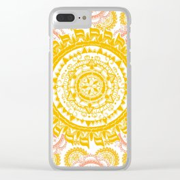 Citrus and Salmon Colored Mandala Textile Clear iPhone Case