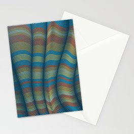 Curtain Pattern - Contemporary Home Decor Stationery Cards