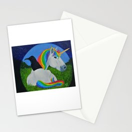 The Unicorn and the Raven Stationery Cards