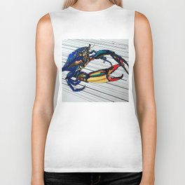 Maryland blue crab Biker Tank