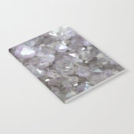 Sparkling Clear Light Purple Amethyst Crystal Stone Notebook