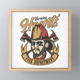 19 Firefighter_13 Framed Mini Art Print