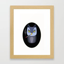 smoking owl Framed Art Print