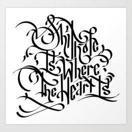 Shithole White Art Print