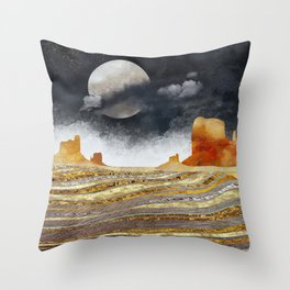 Metallic Desert Throw Pillow