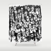 rush Shower Curtains featuring Rush Hour by Andooga Design