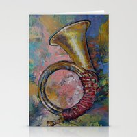 hunting Stationery Cards featuring Hunting Horn by Michael Creese