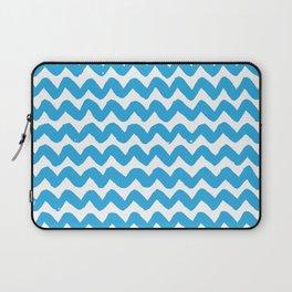 Blue Brushstroke Chevron Pattern Laptop Sleeve