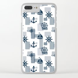 Nautical design 5 Clear iPhone Case