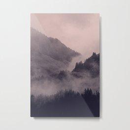 HIDDEN HILLS (mauve) / Bregenz Forest, Austria Metal Print