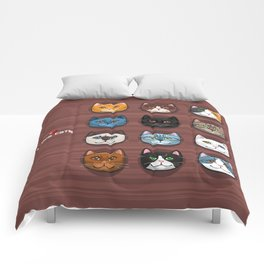 I love cats Comforters
