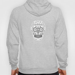 Skull with floral ornament. Mexican sugar skull Hoody