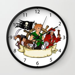 Peter Pan and the pirates emblem Wall Clock