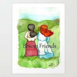 Bosom Friends Anne oF Green Gables Art Print