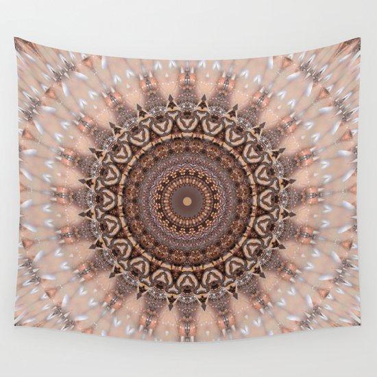 Pink Wall Tapestry mandala romantic pink wall tapestrychristine baessler | society6