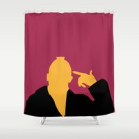 taxi driver Shower Curtains featuring Taxi Driver by FilmsQuiz