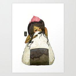 Onigiri Girl Art Print