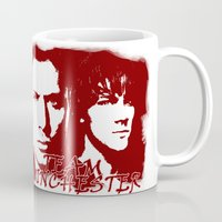 winchester Mugs featuring Team Winchester by Panda Cool