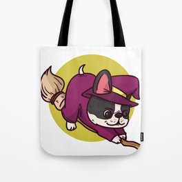 witch dog Tote Bag