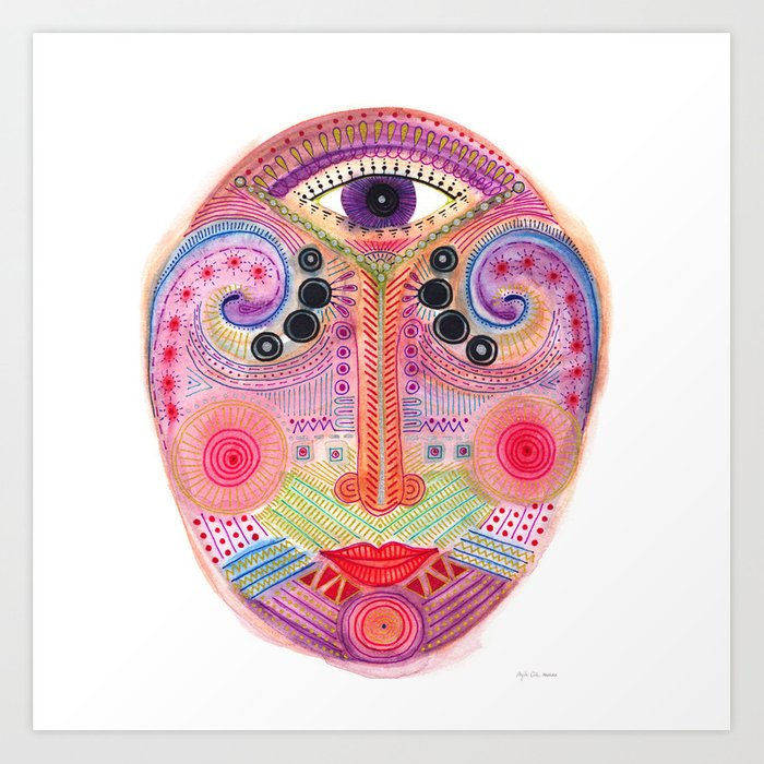 the all seing tranquility mask Art Print
