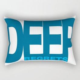 The Deep Regrets Rectangular Pillow