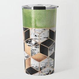 Birch Tree Cubes Travel Mug