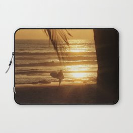 Golden Beach with Surfer (Color) Laptop Sleeve