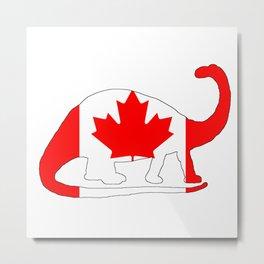 Canada Brontosaurus Metal Print