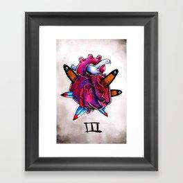 III of Swords Framed Art Print