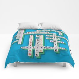 Cross Word Puzzle of Success Comforters