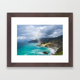 Parting Clouds in Big Sur Framed Art Print